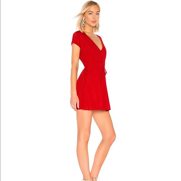 X REVOLVE Charlet Dress in Red